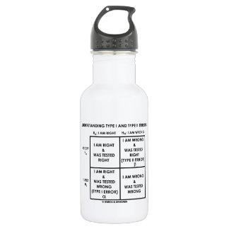 Understanding Type I And Type II Errors Statistics 18oz Water Bottle