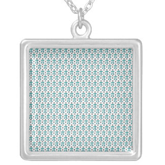 Understated Complex Pi Silver Plated Necklace