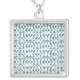 Understated Complex Pi Square Pendant Necklace