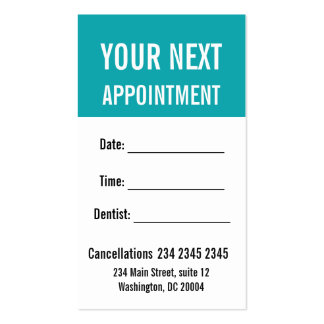 Understated Elegance Appointment Reminder Business Card