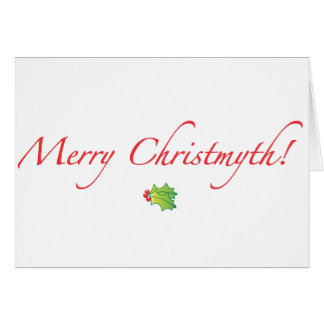 (Understated) Merry Christmyth! Greeting Card