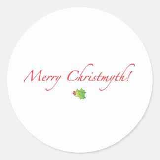 (Understated) Merry Christmyth! Classic Round Sticker