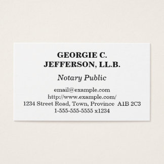Understated Notary Public Business Card