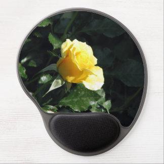 Understated Single Yellow Rose in Bloom Gel Mousepad