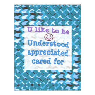Understood,APPRECIATED, Cared  WISDOM LOWPRICE Customized Letterhead