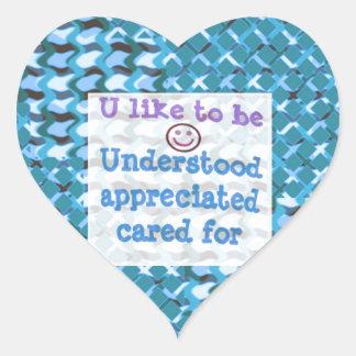 Understood,APPRECIATED, Cared  WISDOM LOWPRICE Sticker