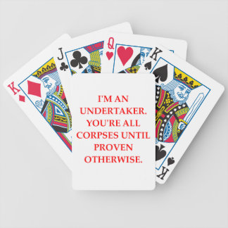 UNDERTAKER BICYCLE PLAYING CARDS