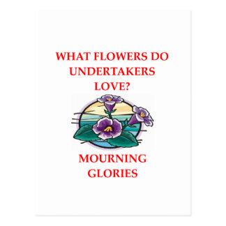 undertaker joke postcard