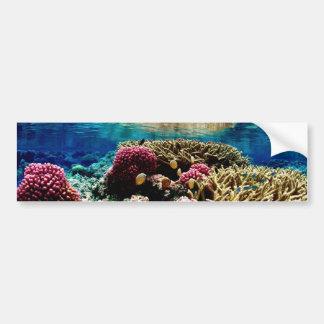 underwa colorido del paisaje coralino del filón re pegatina de parachoque