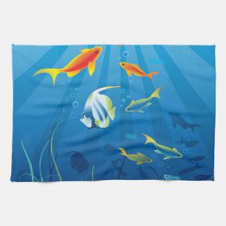 Underwater 3 Kitchen Towels