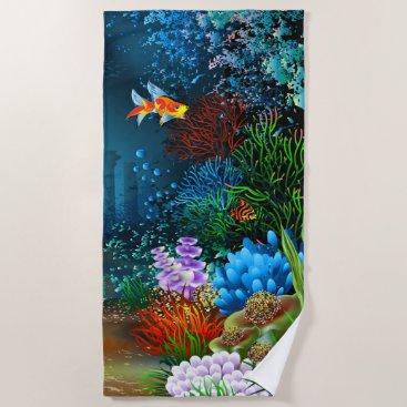 Underwater 4 Beach Towel