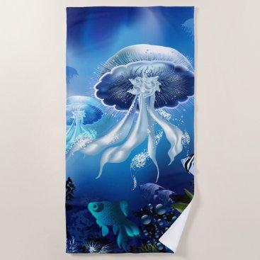 Underwater 6 Beach Towel