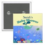 Underwater Adventure Baby Shower Boy Or Girl Pinback Button