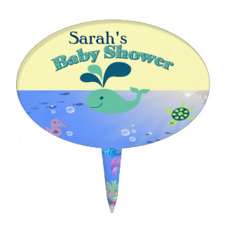 Underwater Adventure Baby Shower Boy Or Girl Cake Topper