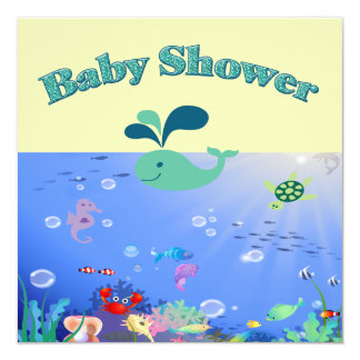 Underwater Adventure Baby Shower Boy Or Girl Personalized Announcements