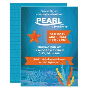 Underwater Adventure Party 5x7 Invitations