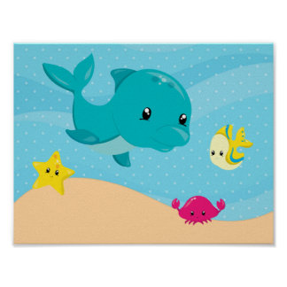 Underwater Animals Poster