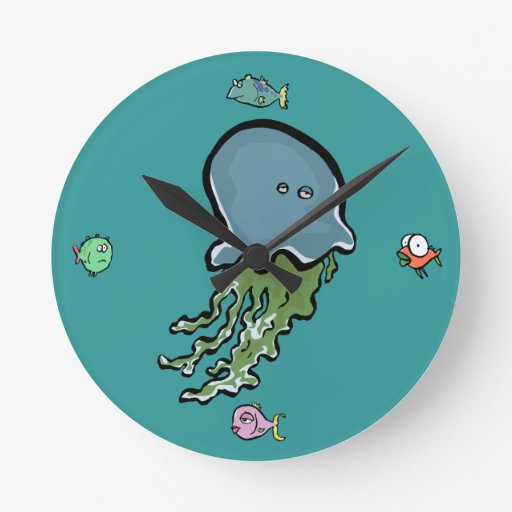 underwater animals round clock