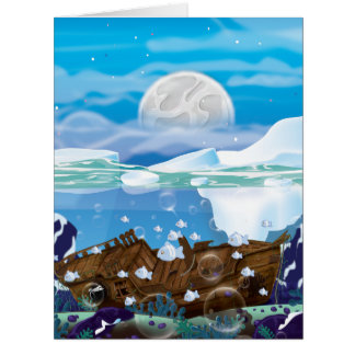 Underwater Arctic Shipwreck Card