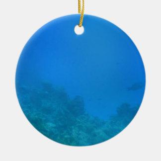 Underwater Background Scene Ceramic Ornament