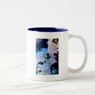 Underwater background Two-Tone coffee mug