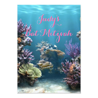 Underwater Bat Mitzvah Invitation