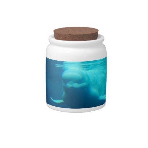 Underwater Beluga Whale Candy Jar