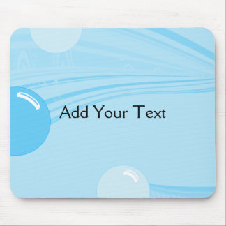 Underwater Bubbles in Blue Mouse Pads