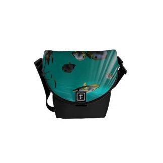 Underwater, butterfly fish messenger bag
