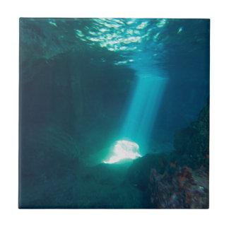 Underwater Cave Ceramic Tile