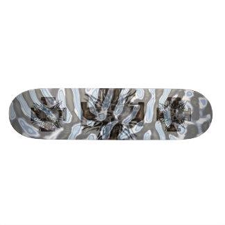 Underwater Chorme Skullwith  Wooden Cross Skate Board Deck