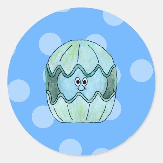 Underwater Clam. Classic Round Sticker
