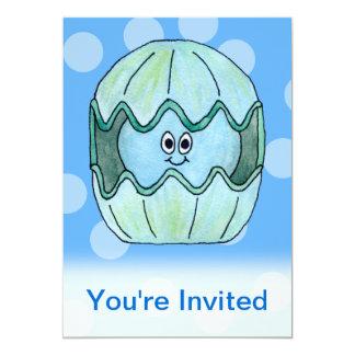 "Underwater Clam. 5"" X 7"" Invitation Card"