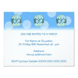 "Underwater Clam. 4.25"" X 5.5"" Invitation Card"