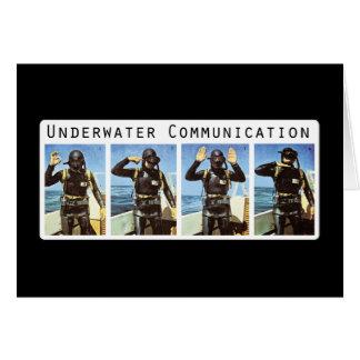 Underwater Communication Greeting Card
