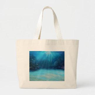 Underwater Coral Reef Towers Canvas Bags