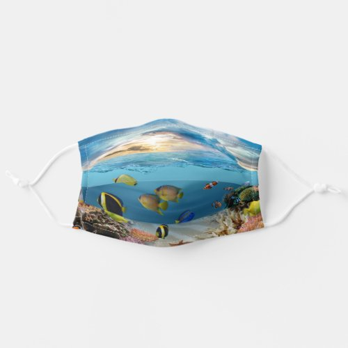 Underwater Coral Reef Tropical Fish Adult Cloth Face Mask