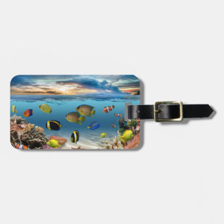 Underwater Coral Reef Tropical Fish Luggage Tag