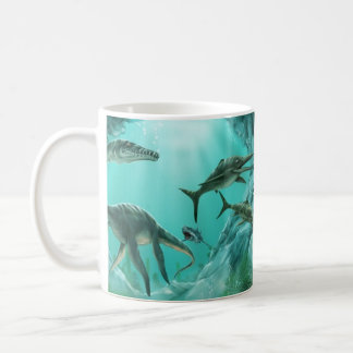 Underwater Dinosaur Basic White Mug
