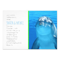 Underwater Dolphin Love Wedding Invitation
