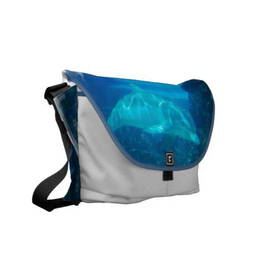 Underwater Dolphin Messenger Bag