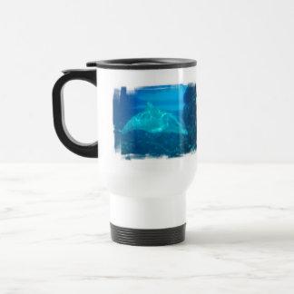 Underwater Dolphin Plastic Travel Mug