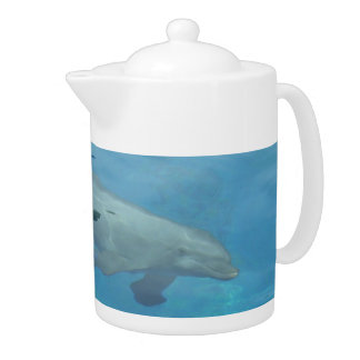 Underwater dolphin watching over you teapot