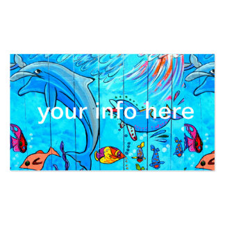 underwater dolphins business card