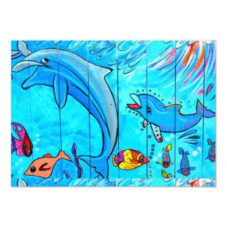 underwater dolphins invitations