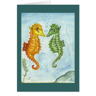 Underwater Equine Card