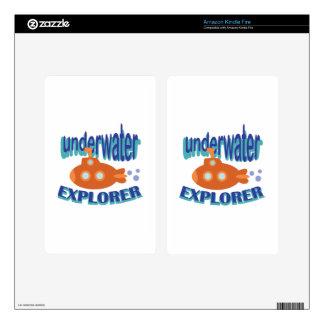 Underwater Explorer Decals For Kindle Fire