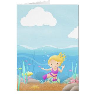 Underwater Explorer - greeting card. Card