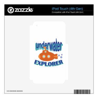 Underwater Explorer iPod Touch 4G Skin