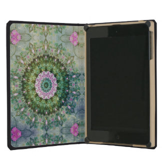 Underwater Fantasy Kaleidoscope, Lilac and Green iPad Mini Cases